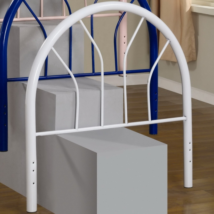 2366WT Twin Headboard - White