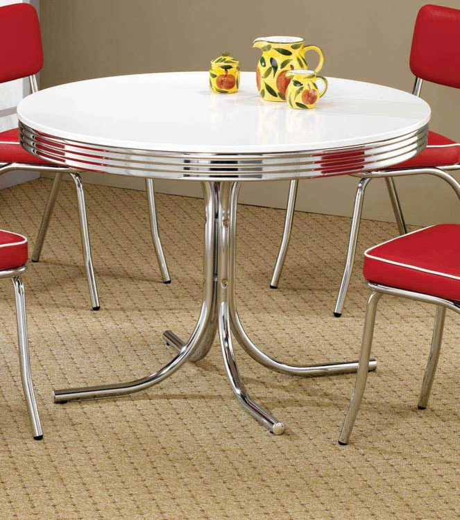 Mix & Match Round Retro Table
