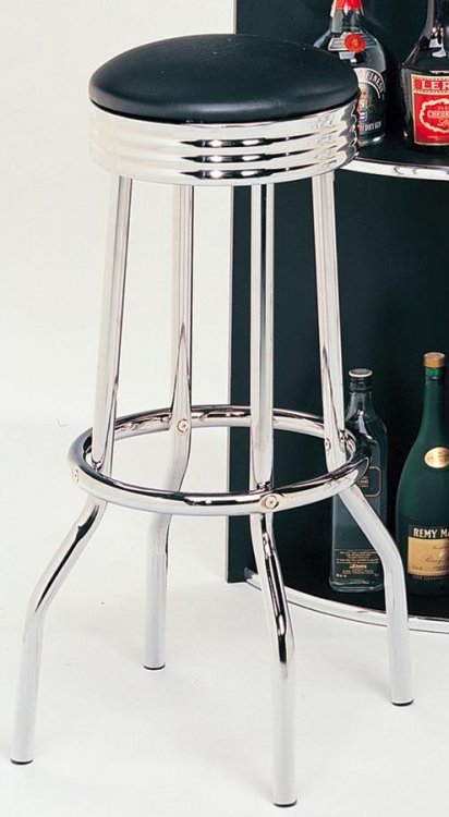 Cleveland Bar Stool - Black - Coaster