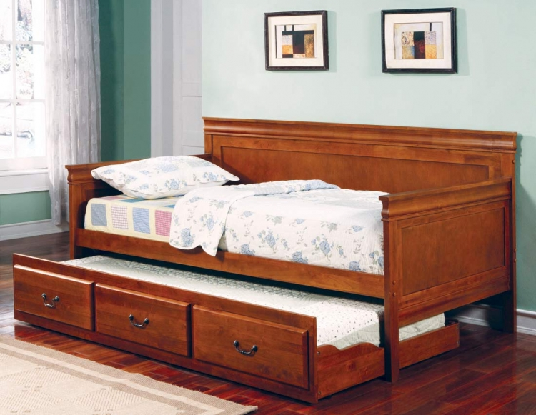 300036OAK Daybed with Trundle - Oak