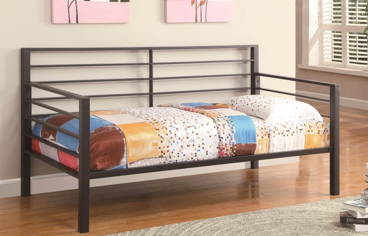 300094 Contemporary Metal Daybed - Black Metal