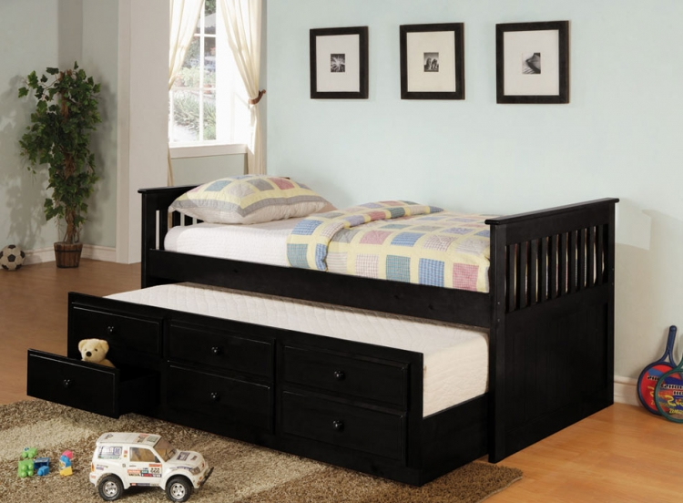 La Salle Daybed with Trundle - Black