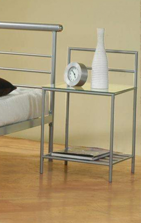 300222 Night Stand - Silver
