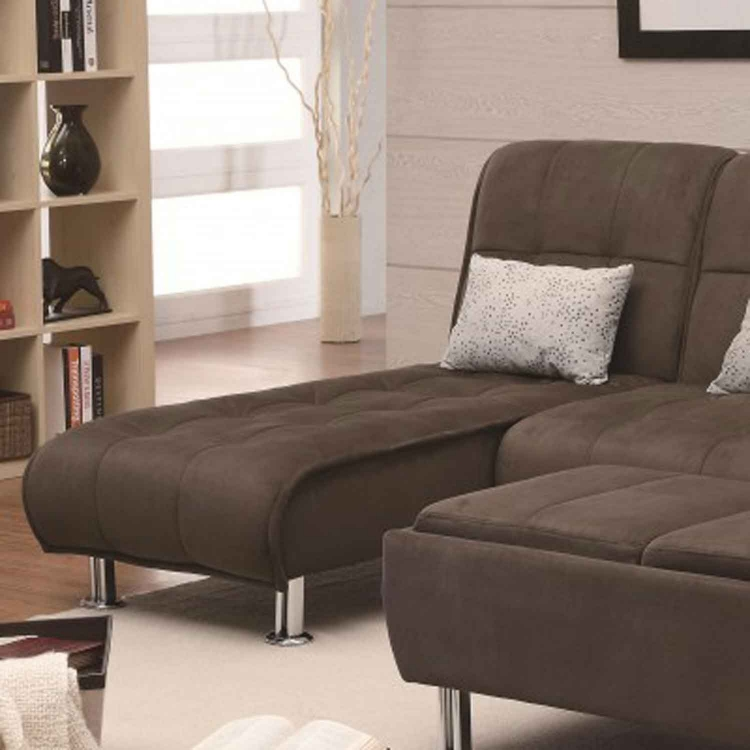 300276 Chaise Bed - Brown
