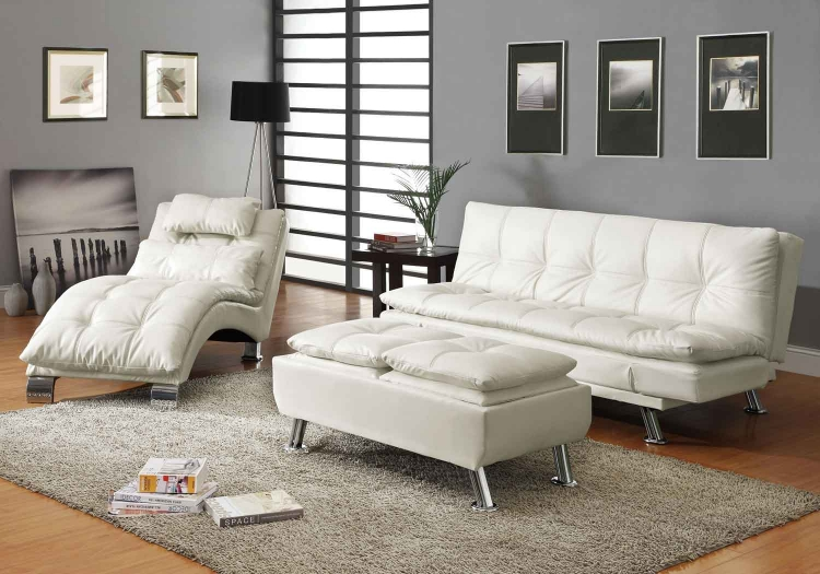 Dilleston Sofa Bed Set - White