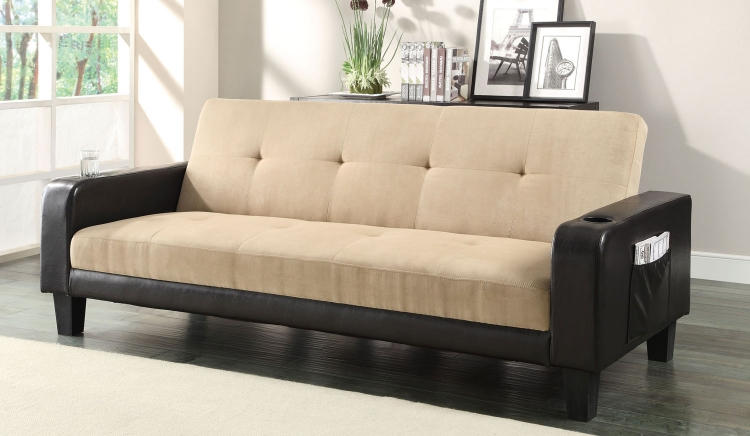300295 Sofa Bed - Khaki/Brown