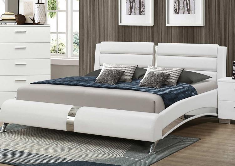 Felicity Platform Bed - White