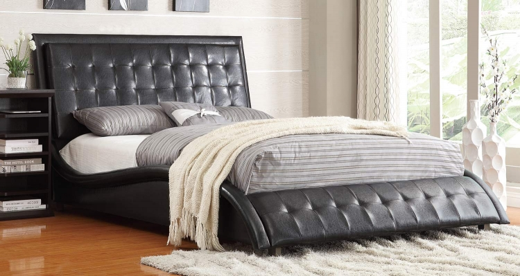 Tully Queen Bed - Black