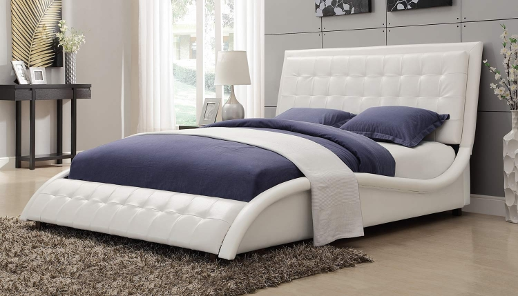 Tully Queen Bed - White