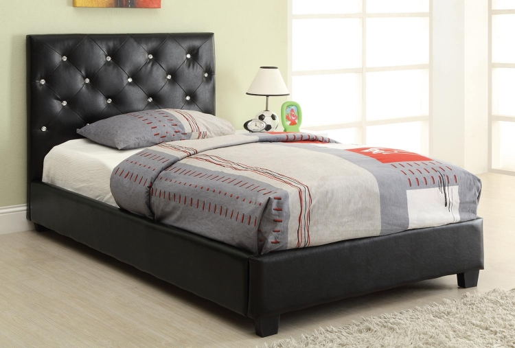 Regina Twin Bed - Black