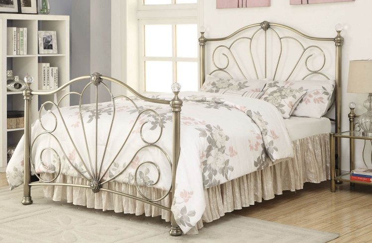 Lemoore Metal Bed - Brass