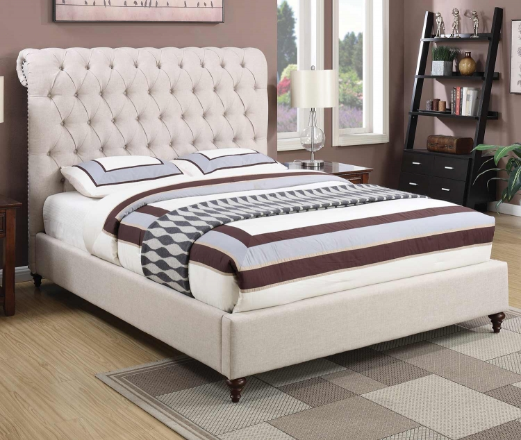 Devon Bed - Beige