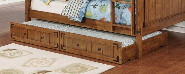 Coronado Storage Trundle - Rustic Honey