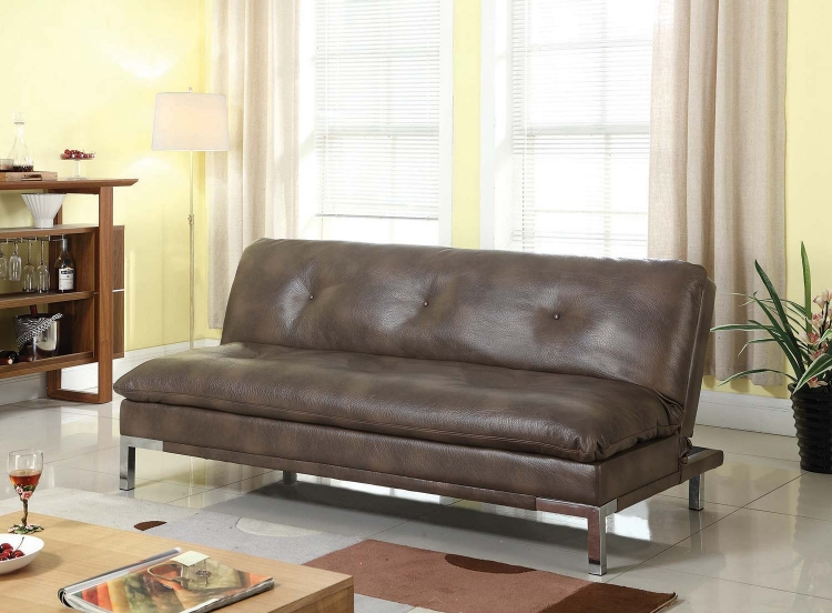 300681 Sofa Bed - Two-tone Brown