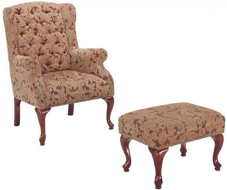 3932b Chair and Ottoman - Coaster