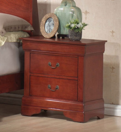 Louis Philippe Warm Cherry Night Stand - Coaster