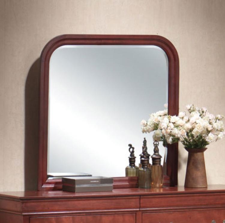 Louis Philippe Warm Cherry Mirror