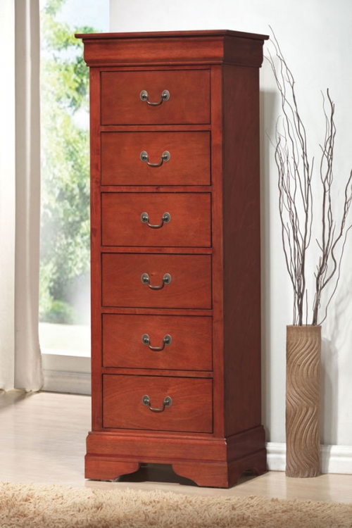 Louis Philippe Warm Cherry Lingerie Chest