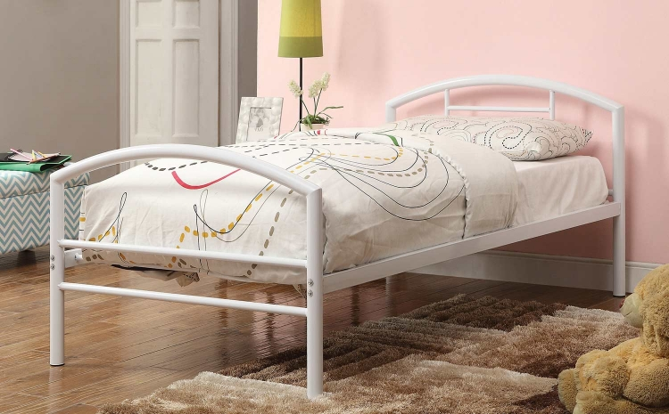 Baines Twin Size Bed - White