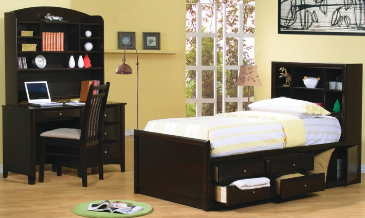 Phoenix Youth Bookcase Bedroom Set - Coaster