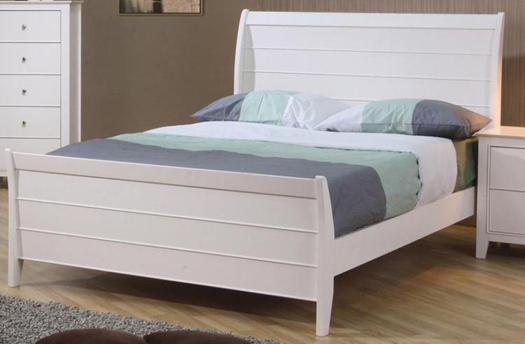 Selena Sleigh Platform Bed