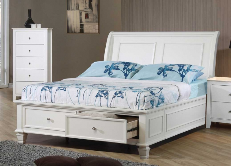 Sandy Beach Light Youth Platform Storage Bed