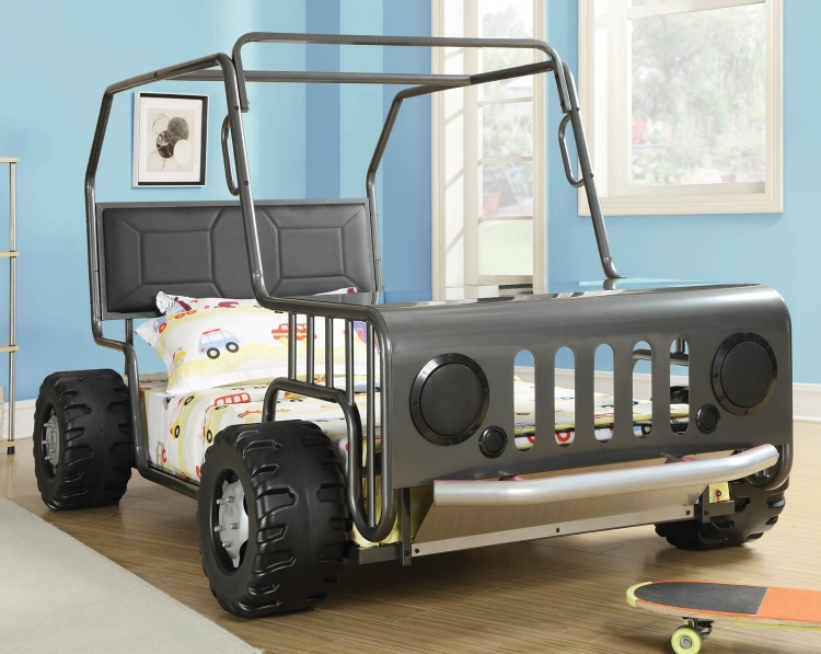 400371 Jeep Twin Bed - Gunmetal