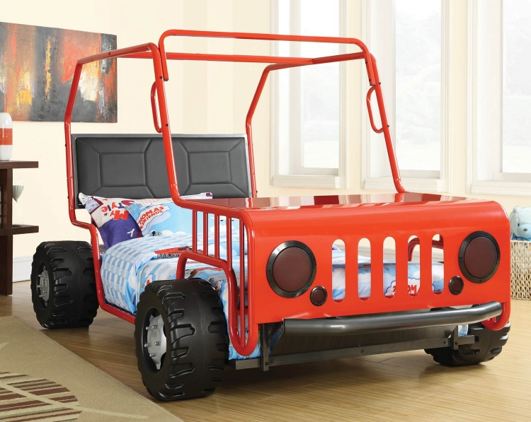 400372 Jeep Twin Bed - Red