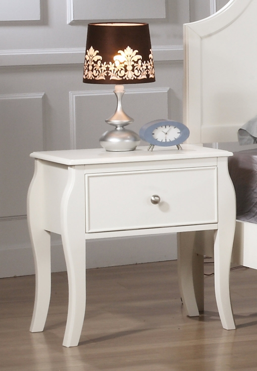 Dominique Night Stand - White