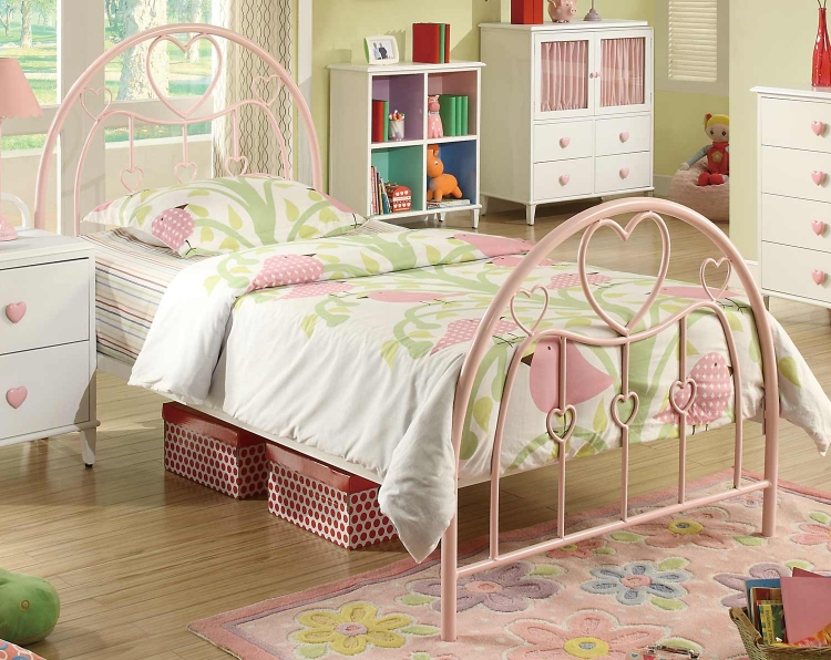 Juliette Twin Bed - Pink