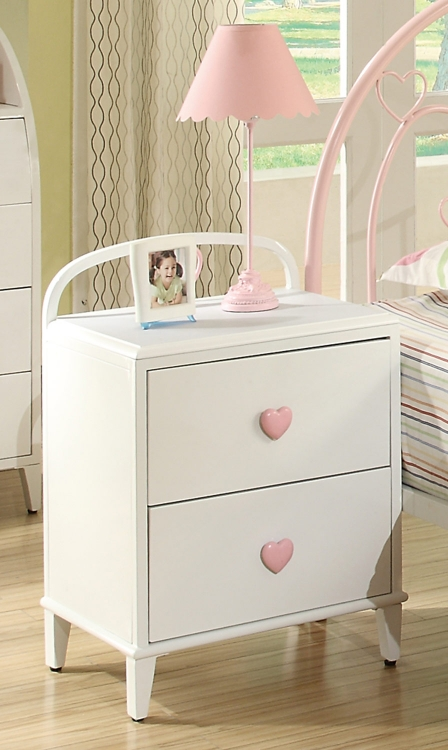 Juliette Night Stand - White