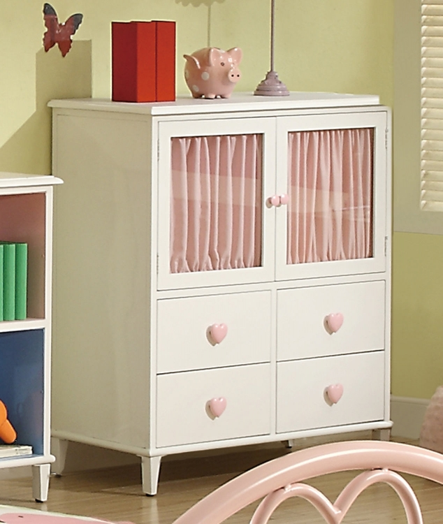 Juliette 4 Drawer Chest With 2 Doors - White