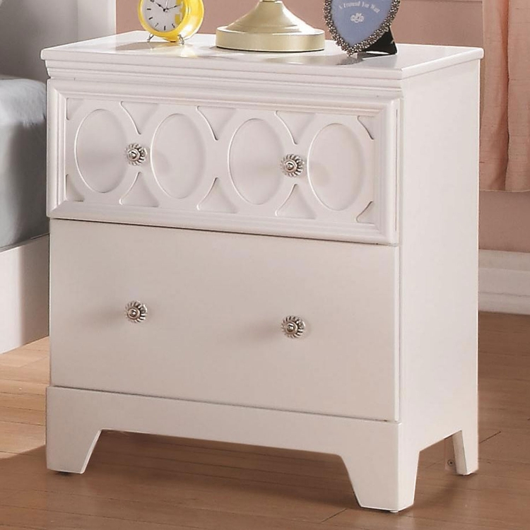 Madeline Night Stand - White