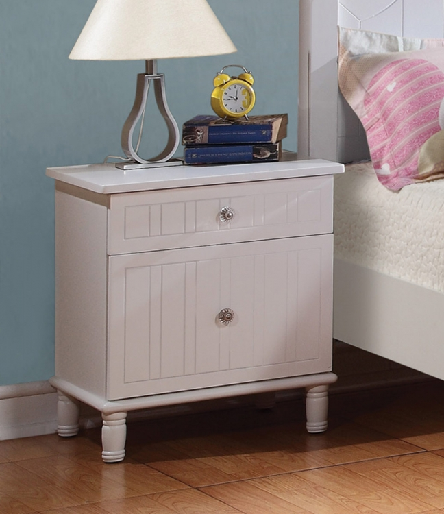 Bethany Night Stand - White