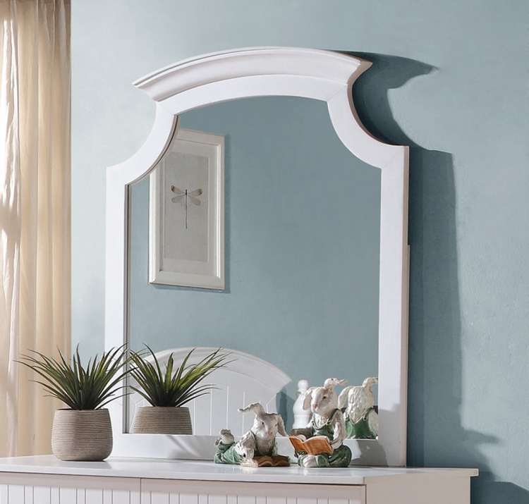 Bethany Mirror - White