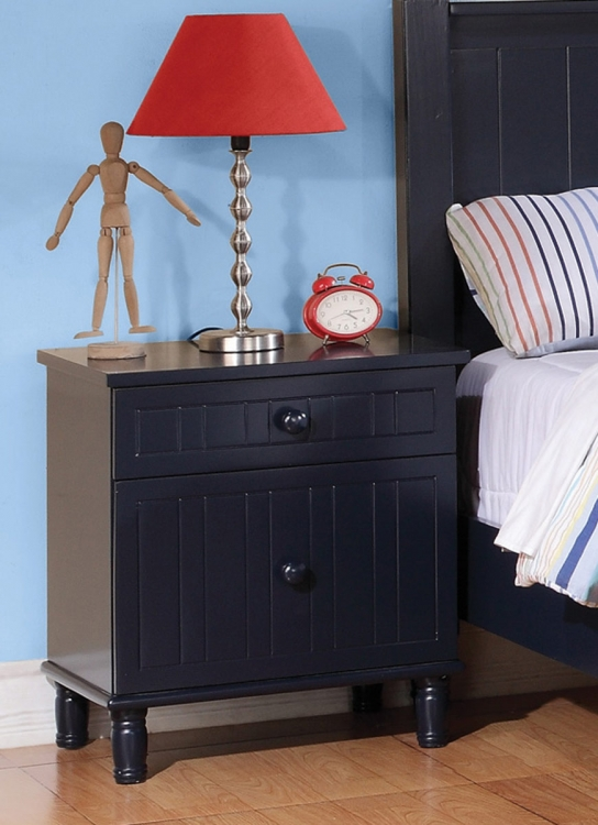 Zachary Night Stand - Navy Blue