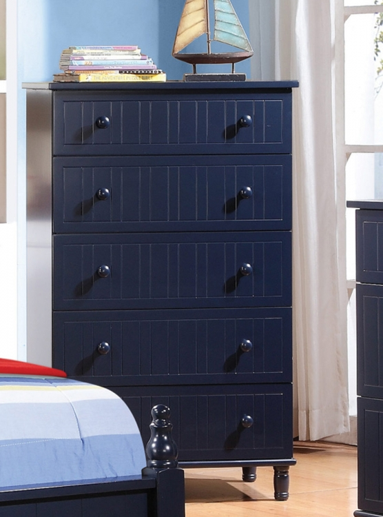 Zachary Chest - Navy Blue