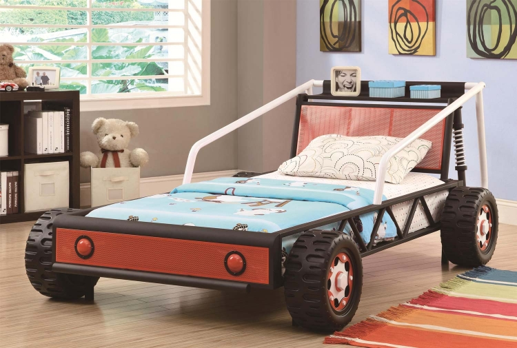 400700 Twin Size Race Car Bed