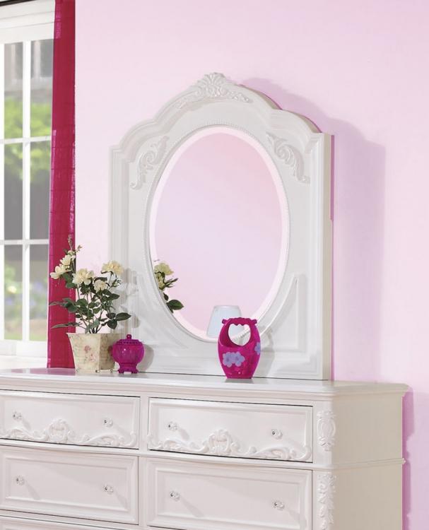Caroline Mirror - White