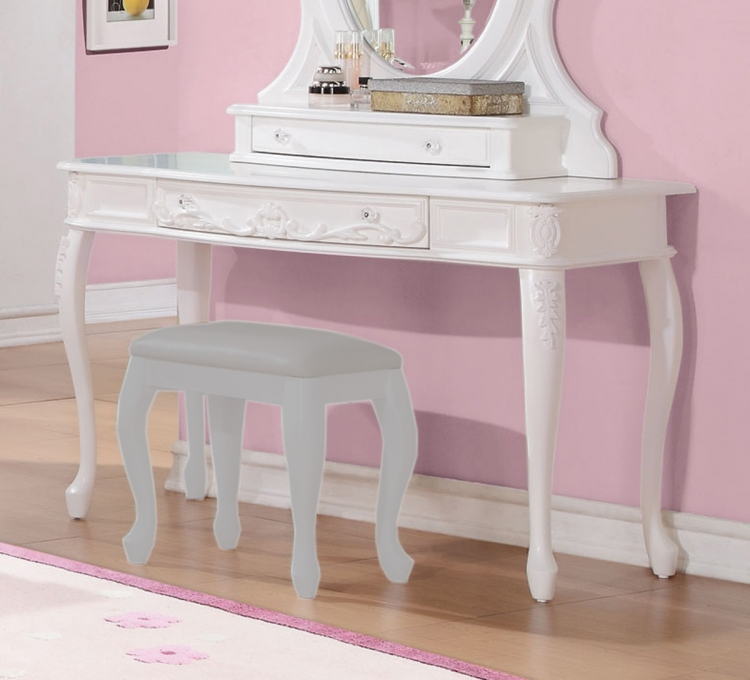 Caroline Vanity Desk - White