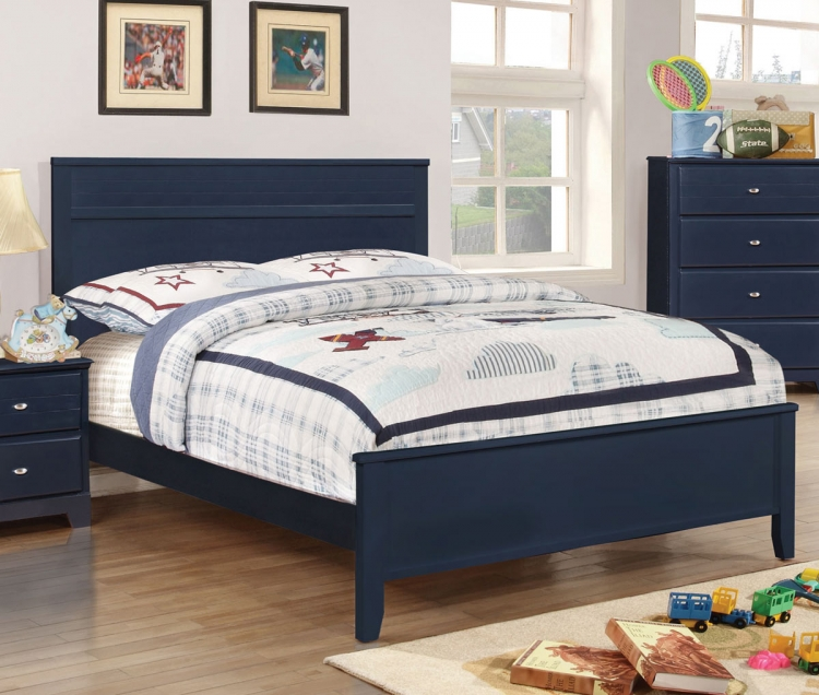 Ashton Platform Bed - Navy