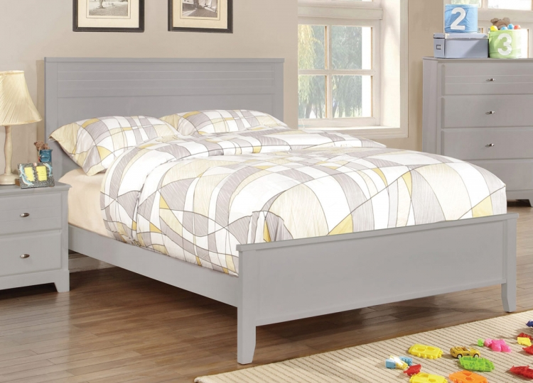 Ashton Platform Bed - Grey