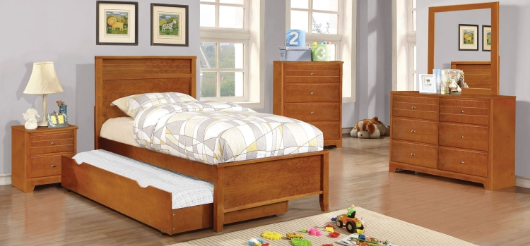 Ashton Platform Bedroom Collection - Honey