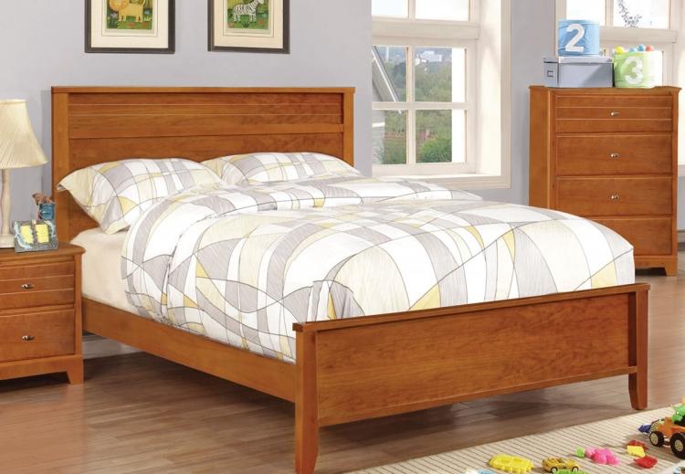 Ashton Platform Bed - Honey