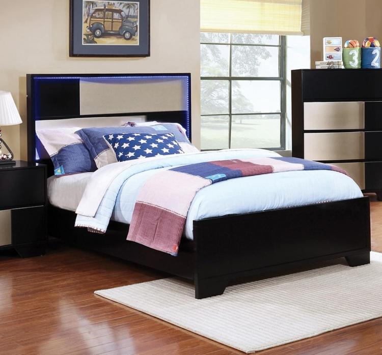 Havering Bed - Black/Sterling