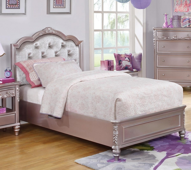 Caroline Bed - Metallic Lilac