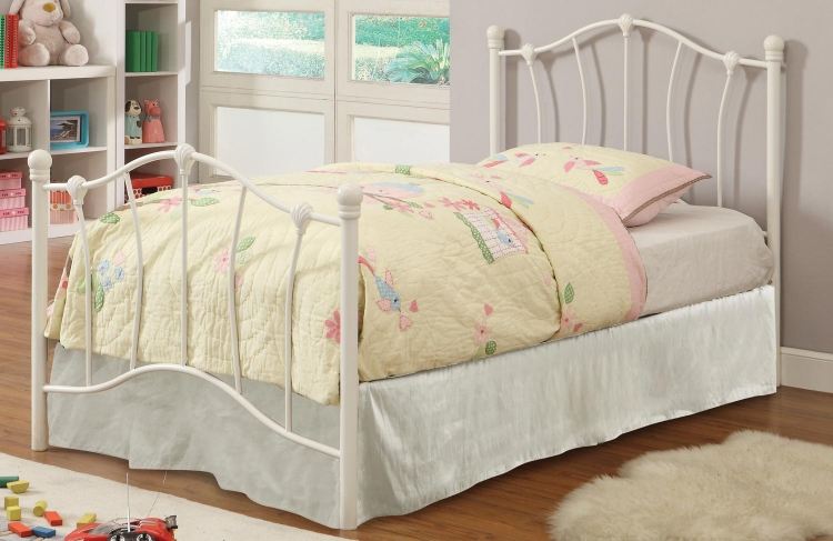 405011T Twin Youth Bed - White