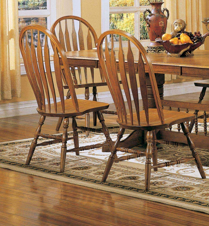 Mackinaw 4388AN Side Chair - Warm Oak