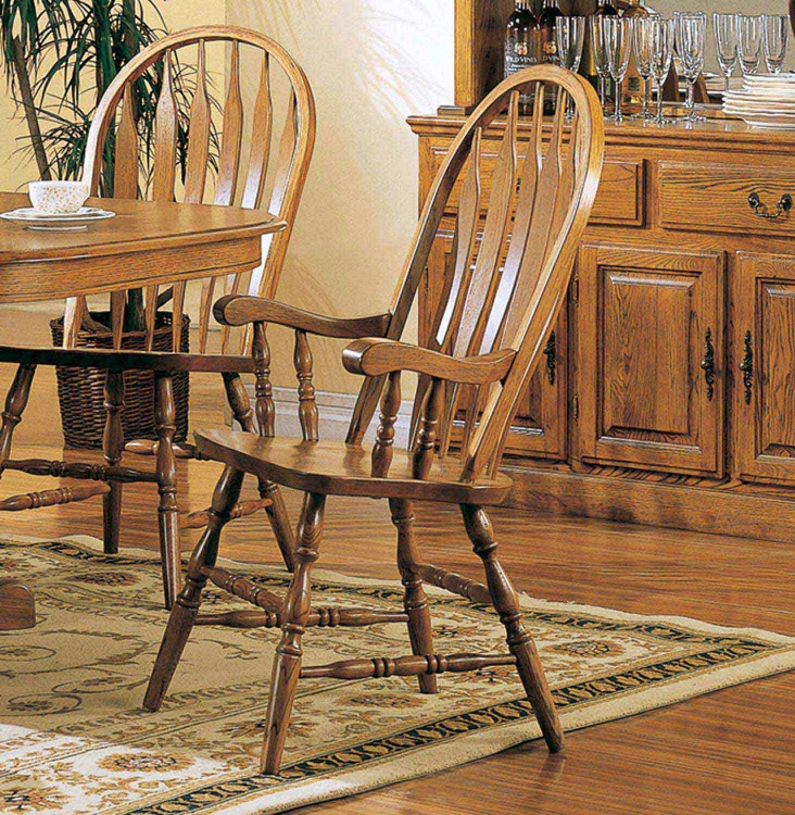 Mackinaw 4389AN Arm Chair - Warm Oak - Coaster