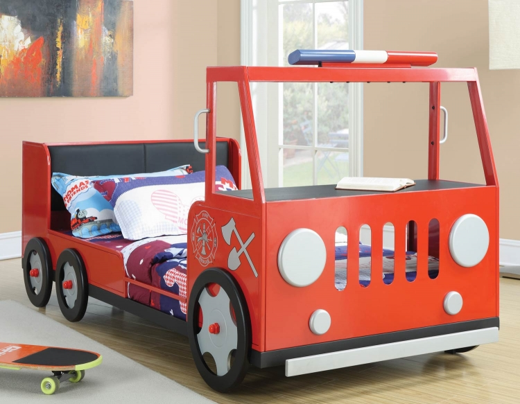 460010 Fire Rescue Twin Bed - Red